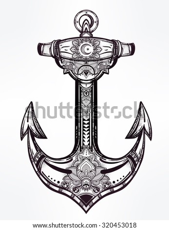 vintage anchor symbol highly