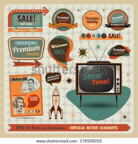 Vintage And Retro Design Elements illustration Stock photo ©