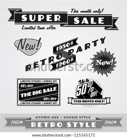 Vintage and retro labels \ logo #125165171