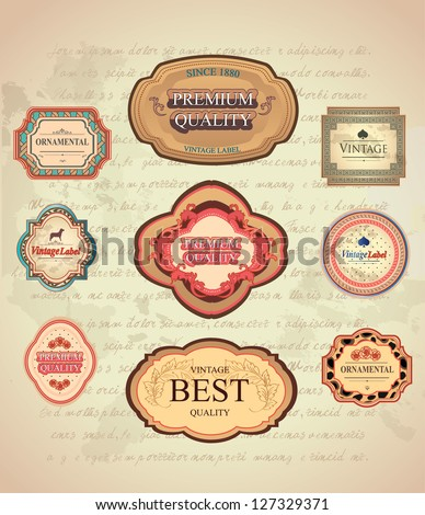 Vintage and Retro Labels/Old Letter Background