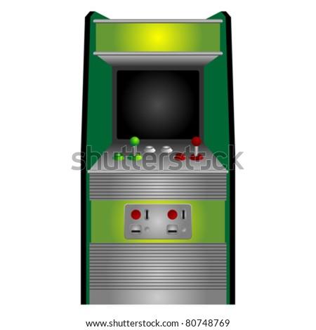 vintage arcade machine isolated