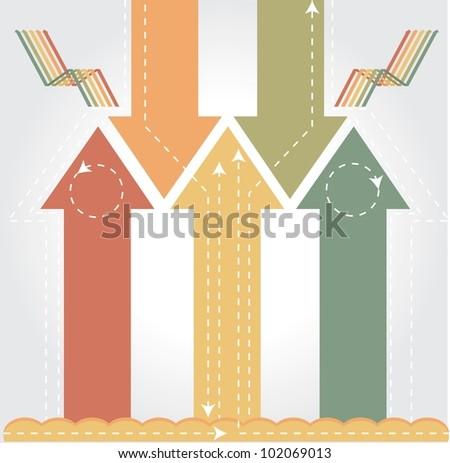 Vintage arrows - Info graphic background