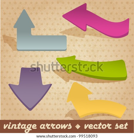 Vintage arrows. Vector set for your design.
