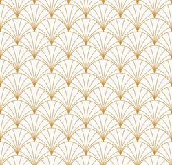 Vintage Art Deco Seamless Pattern. Geometric decorative texture.