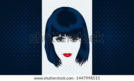 vintage art portrait of a woman
