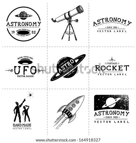 vintage astronomy labels  ...