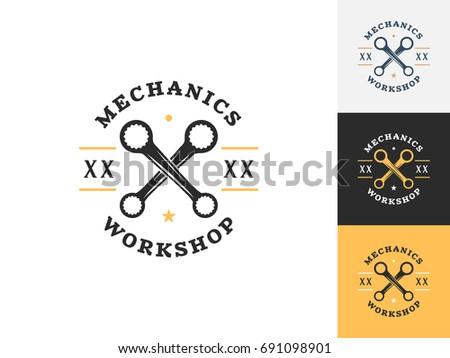 Mechanic Reparatie Logo Download Gratis Vectorkunst En Andere