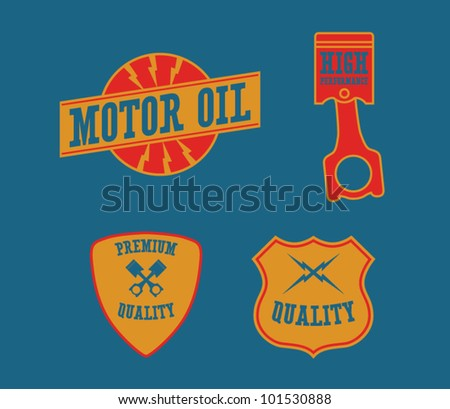 Vintage Automotive Labels