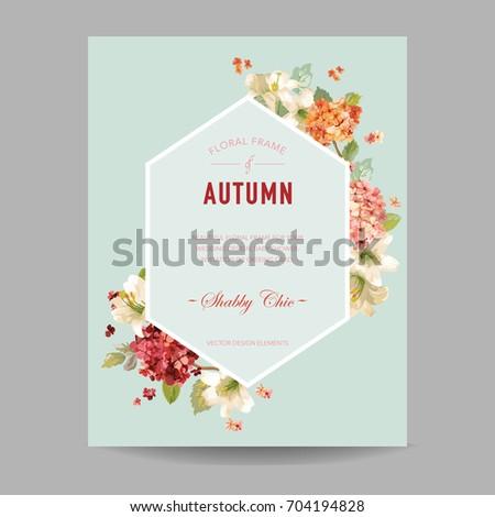 vintage autumn watercolor
