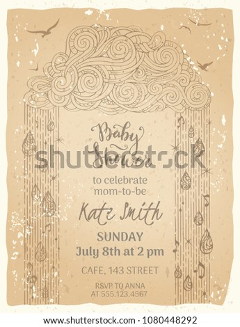vintage baby shower template