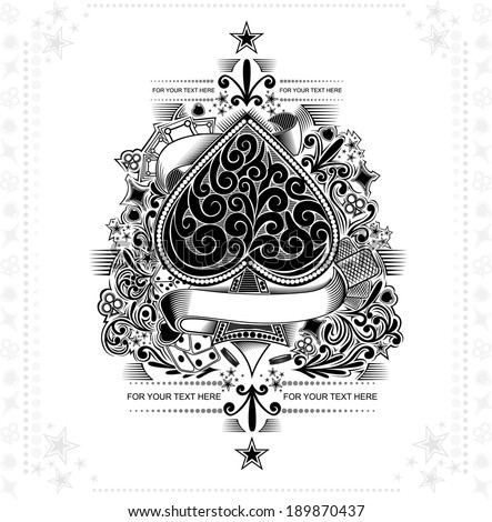 vintage background ace of spades