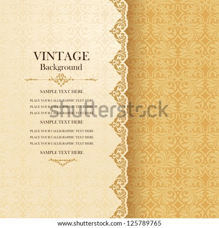 stock-vector-vintage-background-antique-greeting-card-invitation-with-lace-and-floral-ornaments-beautiful
