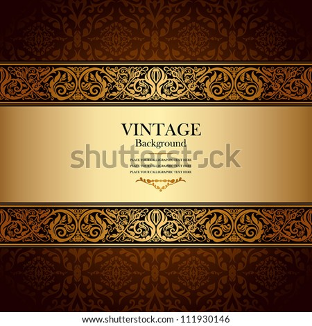 stock-vector-vintage-background-antique-victorian-gold-ornament-baroque-frame-beautiful-old-paper-card