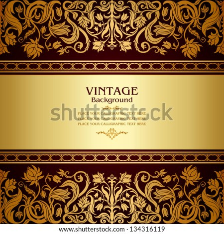Foro gratis : State of Blood Stock-vector-vintage-background-floral-antique-card-victorian-gold-ornament-baroque-frame-beautiful-luxury-134316119