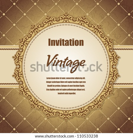 Vintage background for invitations