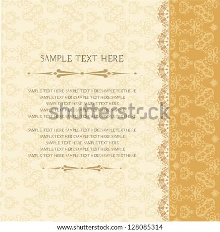 Vintage background, invitation, greeting card, old paper