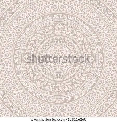 Vintage background made of ornamental pattern. EPS-8. Original author's design, hand-drawn.