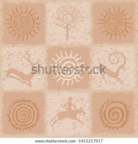 vintage background  sun symbols