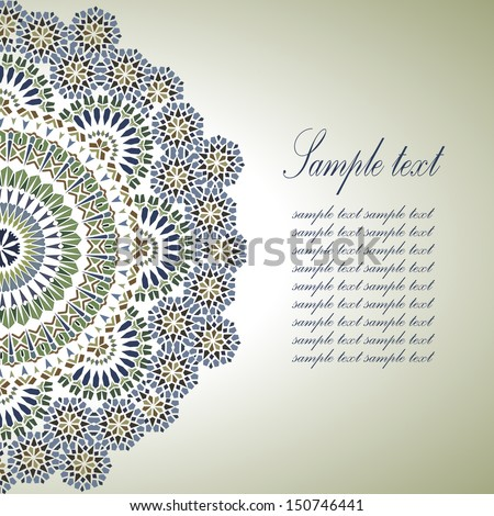 stock vector vintage background traditional ottoman motifs vector