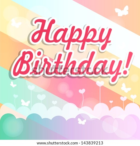 """Vintage background with a greeting of """"happy birthday"""""""