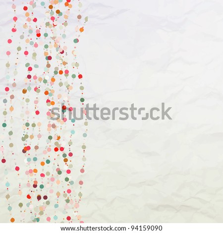 Vintage background with dots. EPS 8 vector file included