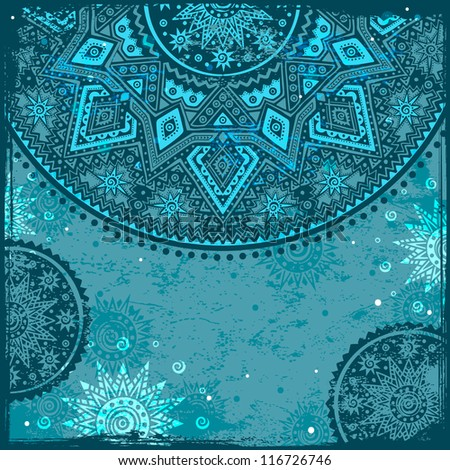 Vintage background with ethnic ornament