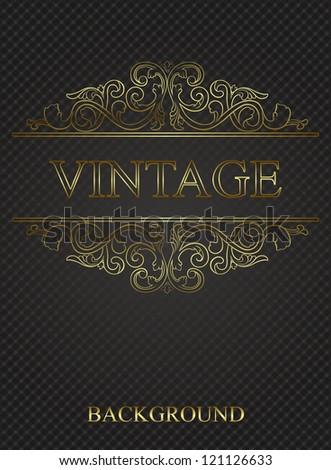 Vintage background with golden elements