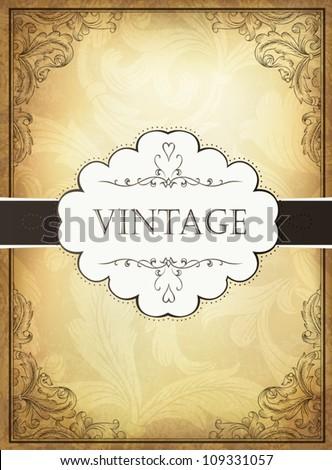 stock-vector-vintage-background-with-ornamental-frame-vector-illustration-eps