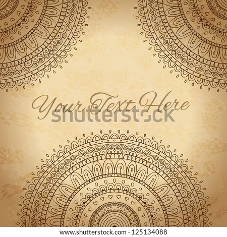 Vintage background with ornaments. Vector background.