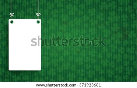 Vintage background with white frame for St Patricks Day. Eps 10 vector file.