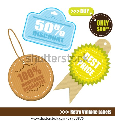 vintage badge and label tag