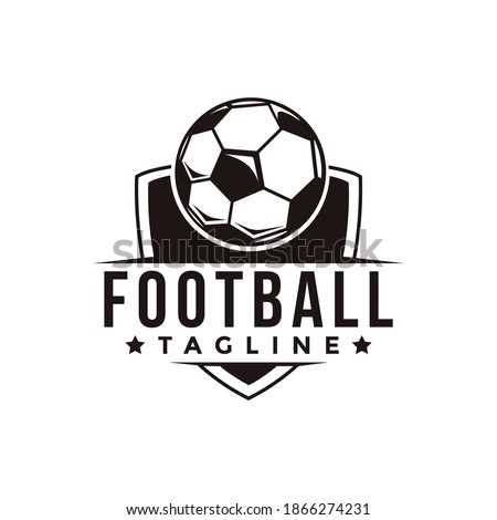 vintage badge emblem football