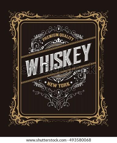 vintage badge for whiskey...