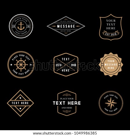 Vintage Badge Logos - Set of vintage minimal badge logo designs.