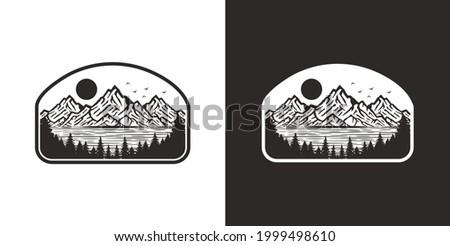 vintage badge mountain shirt