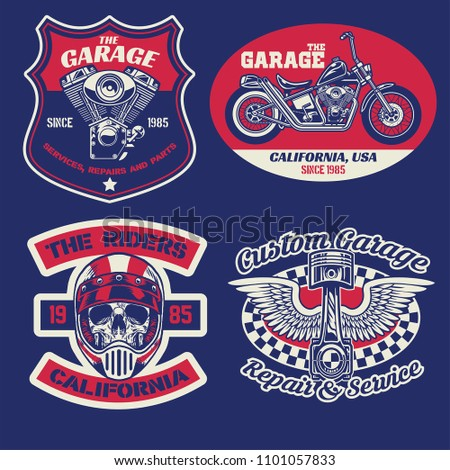 Motorcycle flag design typography, t… Stock Photo 443596360