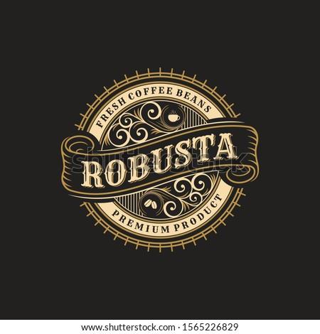 vintage badges coffee shop, emblems and logo