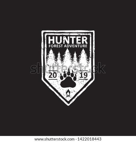 vintage badges of hunter club  labels, emblems and logo