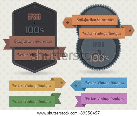 vintage badges vector design