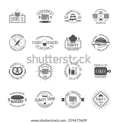 Vintage bakery badges labels and logos Vector illustration for your design