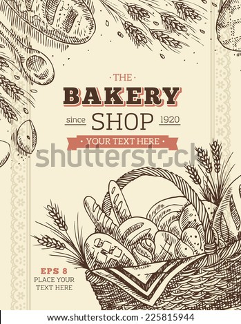 Vintage Bakery Card Template