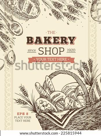 Vintage Bakery Card Template