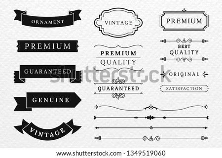 Vintage banner and design element collection vectors