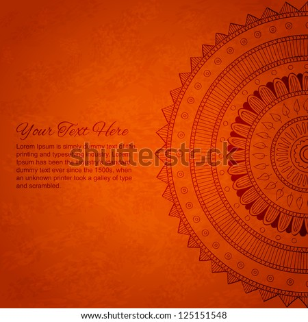 Vintage banner with ornaments. Vector mandala.