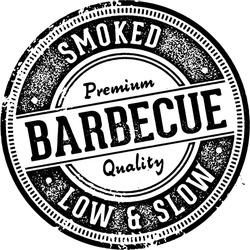 Vintage Barbecue BBQ Menu Design Stamp