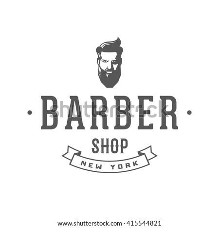 Vintage barber shop badge