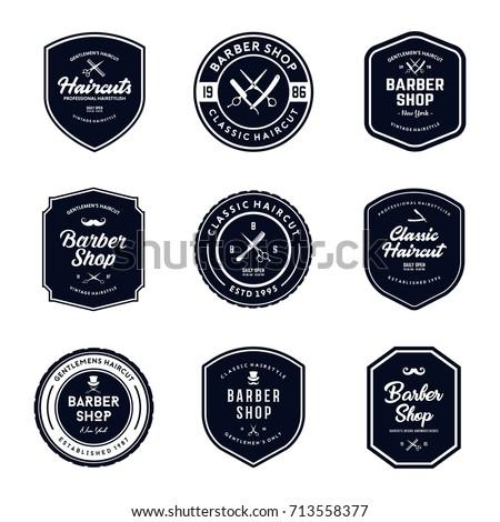 vintage barber shop badges...