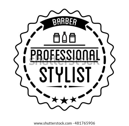 Vintage Barber Shop Logo And Beauty Spa Salon Badge Vector Element Isolated Icons On