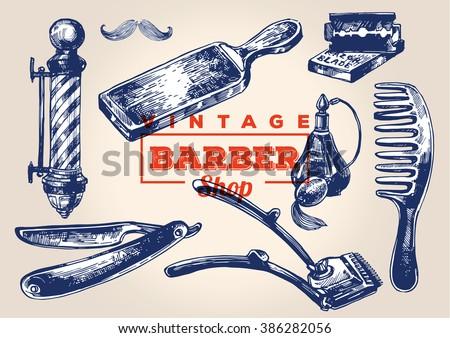 vintage barbershop elements