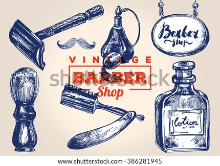 vintage barbershop elements